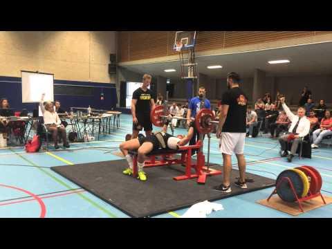 Melle de Boer - 145kg RAW Bench Press, No lift