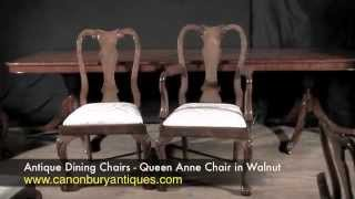 Antique Dining Chairs - Queen Anne Chair In Walnut