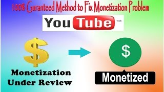 [Fixed] Youtube Monetization Under Review Problem (100% Working)