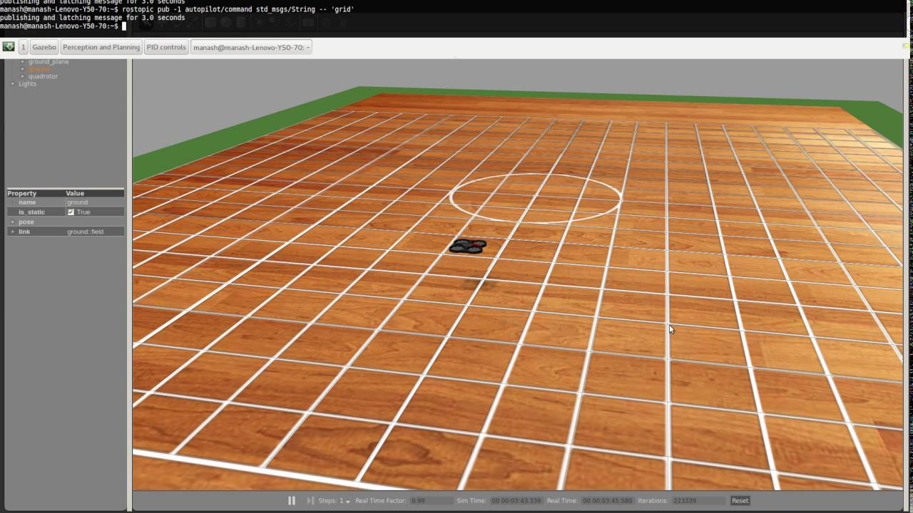 Quadcopter grid localization and traversal demo