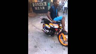 Jamaican bike stunt