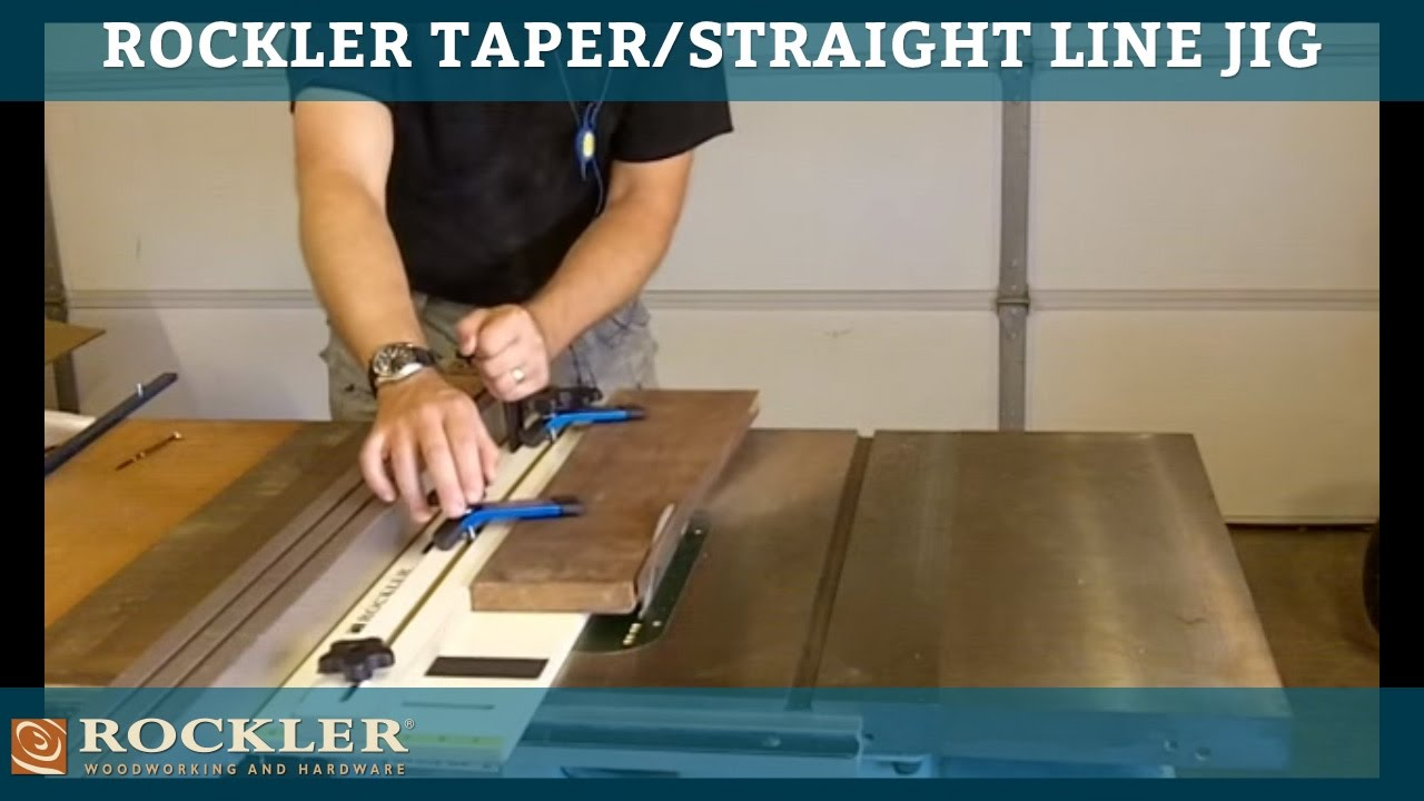 The Rockler Taperstraight Line Jig Youtube