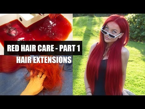 RED HAIR CARE PART 1: HAIR EXTENSIONS (Products, Tools, Hair Dye) -