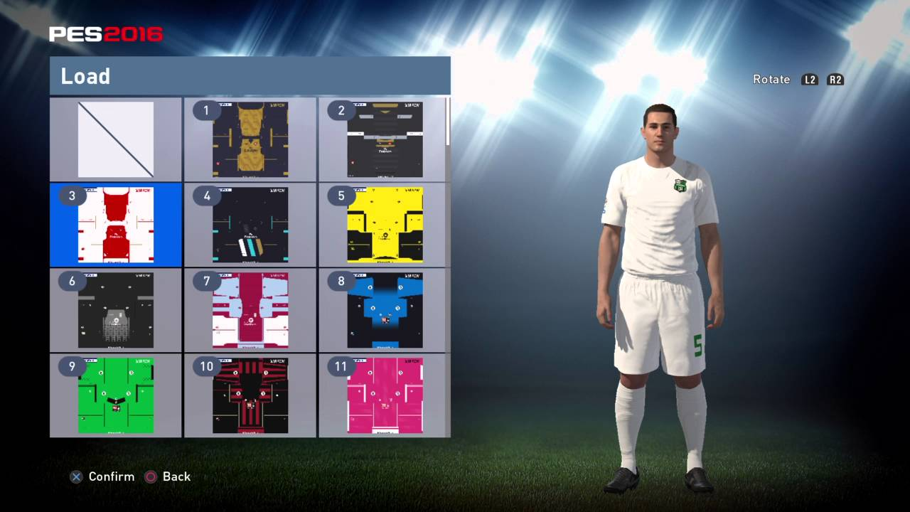 PES World PES 2016 Czech Republic Euro 2016 away kit instructions