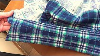 Обработка рубашечного воротника с отрезной стойкой