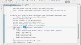Java Web Programming with Eclipse: Wiki Application, View Page