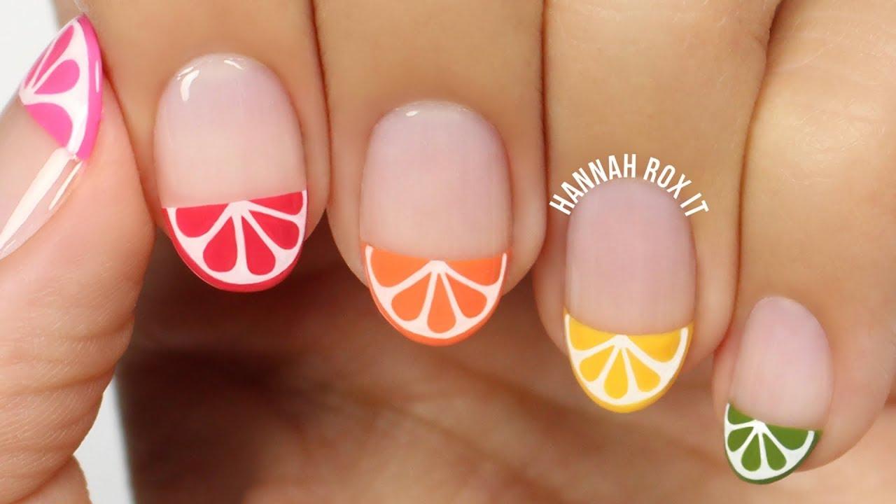 Citrus slice nail art youtube citrus slice nail art prinsesfo Gallery