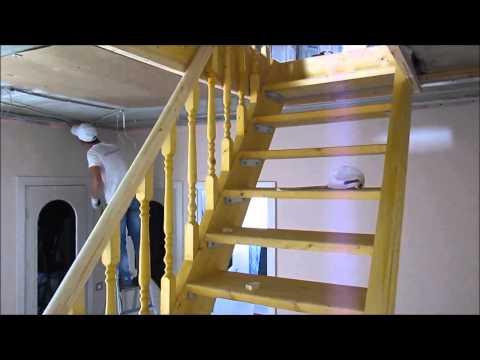 Компания Потолки Столицы обвод лестницы в таунхаусе
