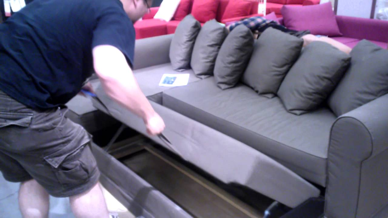 cool pull out couch - ikea - youtube