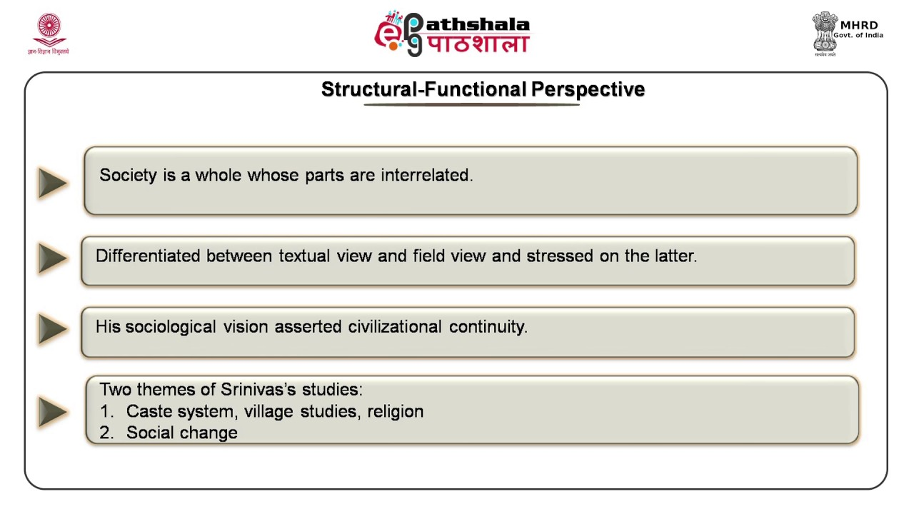 Structural Functional Approach M N Srinivas