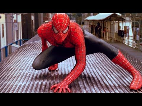 SpiderMan vs Doctor Octopus  Train Fight   SpiderMan 2 2004 Movie  HD