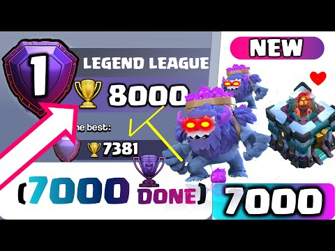 COC TH 13 LEGEND | CHASE 8000 Trophy | Top 3 Higher League Attacks | TH13 YETI + PEKKA SMASH