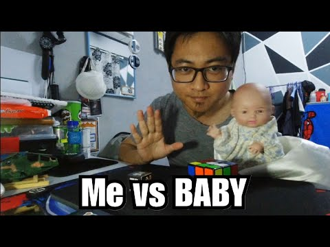 Rubik's Cube Magic Challenge...with A BABY!