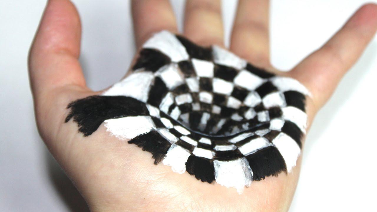 Illusion d 39 optique dessiner un trou dans la main youtube - Illusion optique dessin ...
