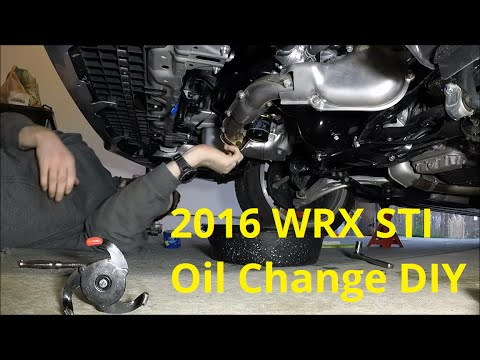 2016 Subaru WRX STI First Oil Change - YouTube
