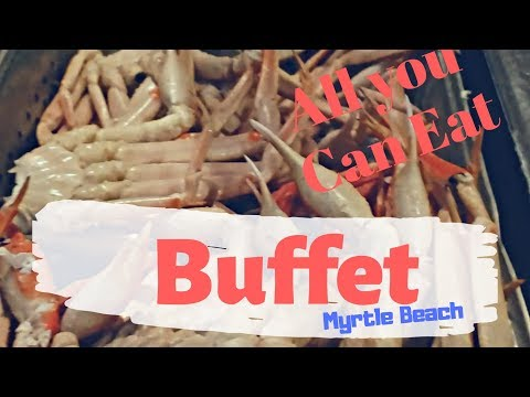 BEST SEAFOOD BUFFET MYRTLE BEACH| CAPTAIN GEORGE| VACATION VLOG