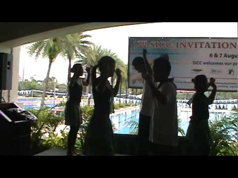 dance number during the party at singapore island country club