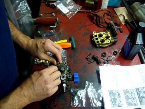 Pressure washer repair- resealing the pump