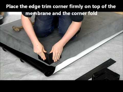 Rubber Roofing Edge Corner Installation Youtube