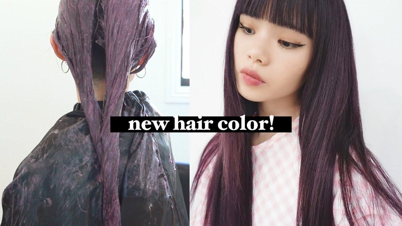 Hair Transformation Vlog Deep Plum Hair With Tape In Hair