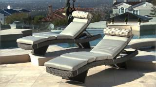 portofino Weathered Gray outdoor loungers