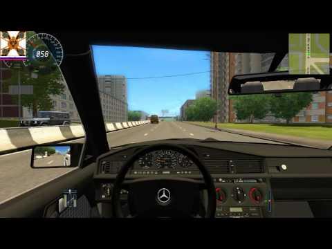 3D Инструктор. Свободное вождение. Вождение по городу. Автомобиль Mercedes-Benz 190E