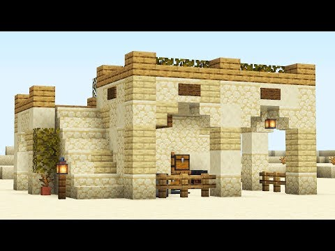 Стартовый дом для пустыни в майнкрафте!