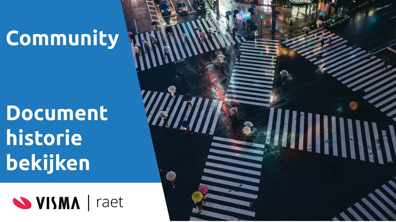 Visma | Raet Community - document historie bekijken