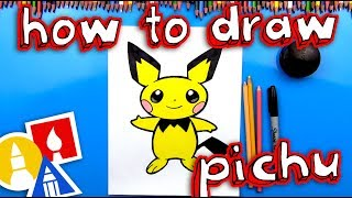How To Draw Pichu Pokemon - NEW BLUE TABLE