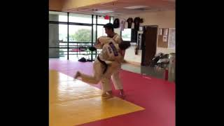Judo small group training session