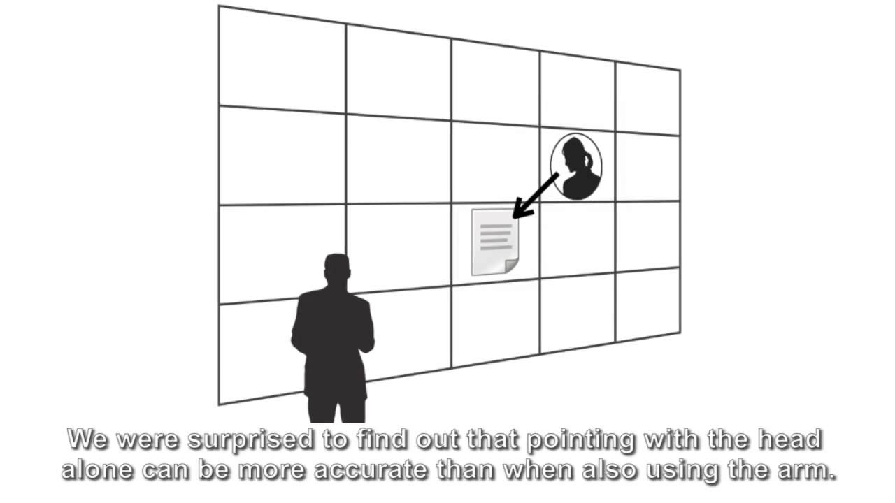 small resolution of accuracy of deictic gestures to support telepresence on wall sized displays