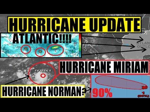 2 MORE HURRICANES FORMING! HURRICANE MIRIAM! ATLANTIC IS WAKING UP FAST!