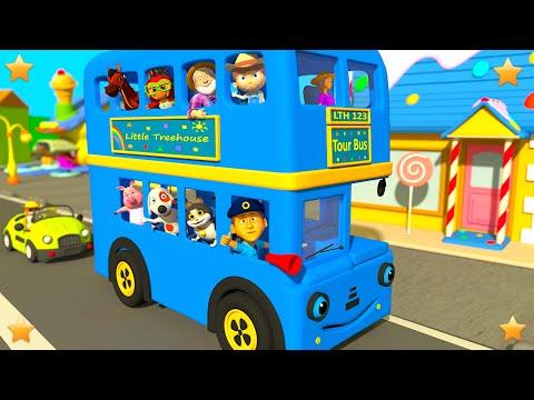 Blue Wheels On The Bus   Kindergarten Nursery Rhymes & Songs For Kids