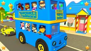 Blue Wheels On The Bus | Kindergarten Nursery Rhymes & Songs for Kids