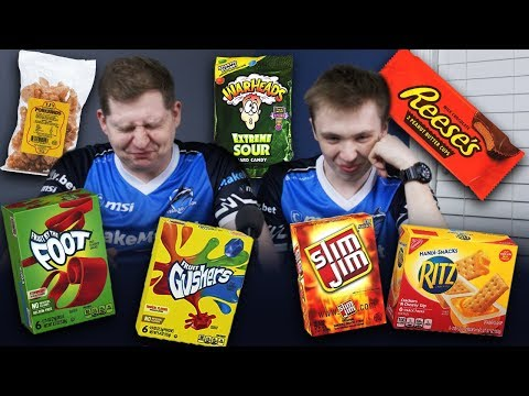 CSGO players try American Junk food