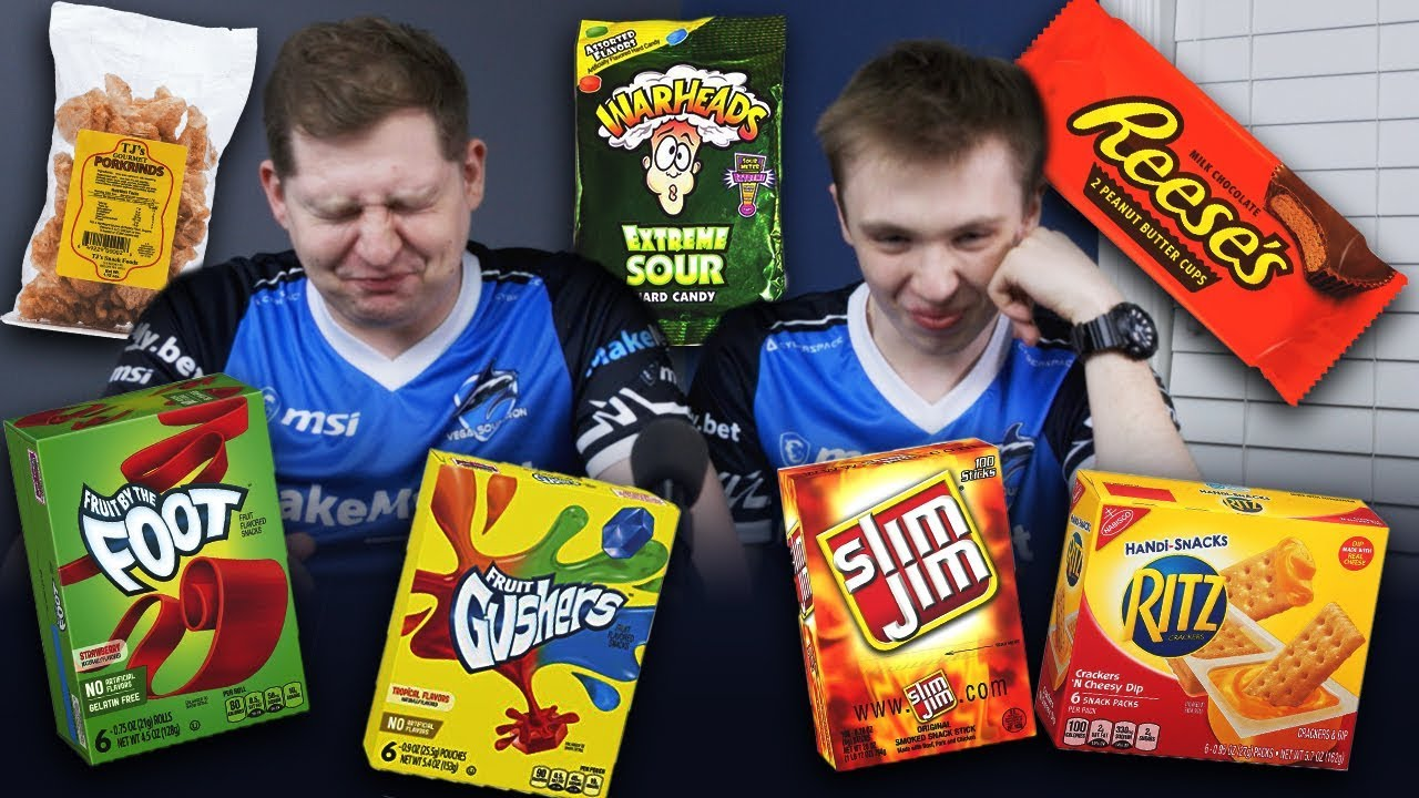 Csgo Players Try American Junk Food Youtube