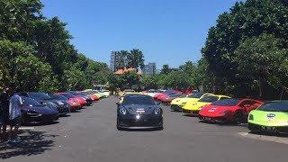 Puluhan supercar berbagai merk dan jenis dari Ferrari, Lamborghini,...