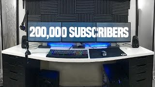 200,000 Subscriber Gaming/YouTube Setup Tour (Giveaway Too!)