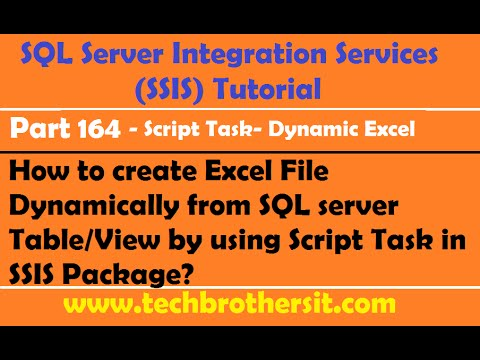 Create Excel File Dynamically from Table or View by using Script Task in SSIS Package- P164