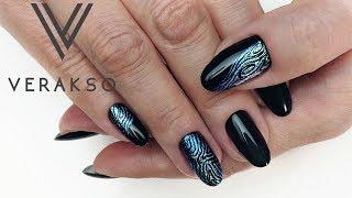 Чеканка на ногтях. Маникюр. Дизайн ногтей 95