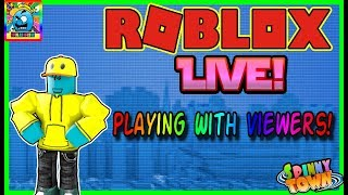 Roblox #110 | PLAYING WITH VIEWERS! | LIVE | (sjk livestreams #343)