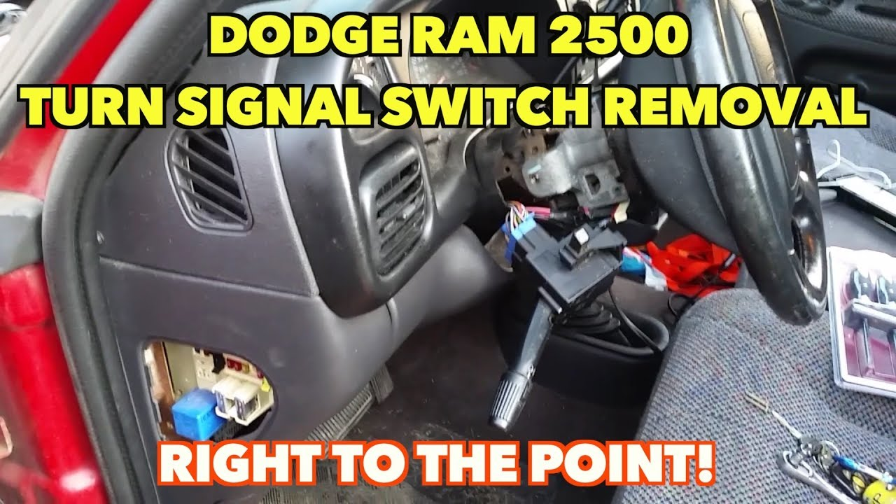 dodge ram 2500 turn signal/wiper switch removal   right to the point!