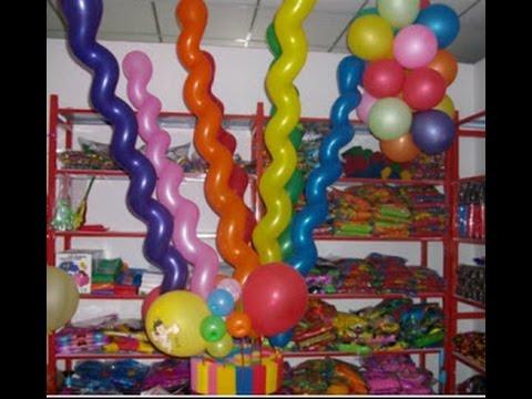 como adornar con globos largos youtube