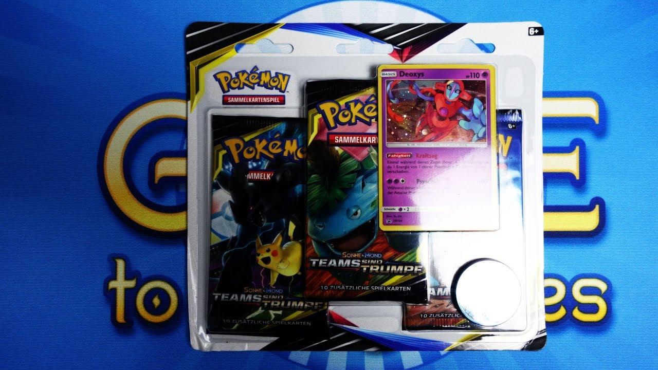 1 BOOSTER TEAMS SIND TRUMPF POKEMON SONNE MOND SAMMELKARTEN Pokémon OVP Booster