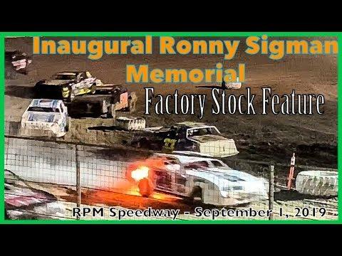 Factory Stock Feature - RPM Speedway - Ronny Sigman Memorial - September 1, 2019