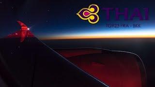 Thai Airways A350 Frankfurt to Bangkok full flight