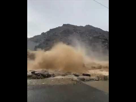 ⚠️ Torrential rain and Flash Floods in Fujairah