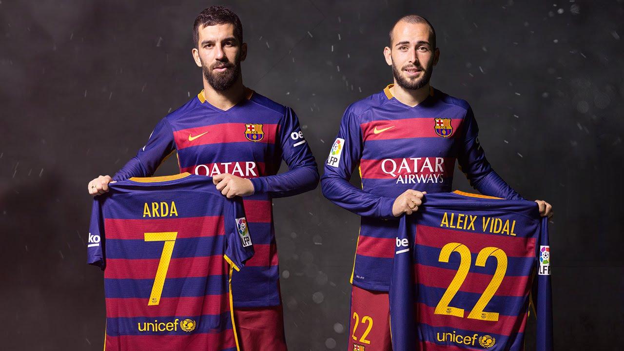 on sale c97f4 8469b FC Barcelona - Arda Turan and Aleix Vidal: Football needs numbers