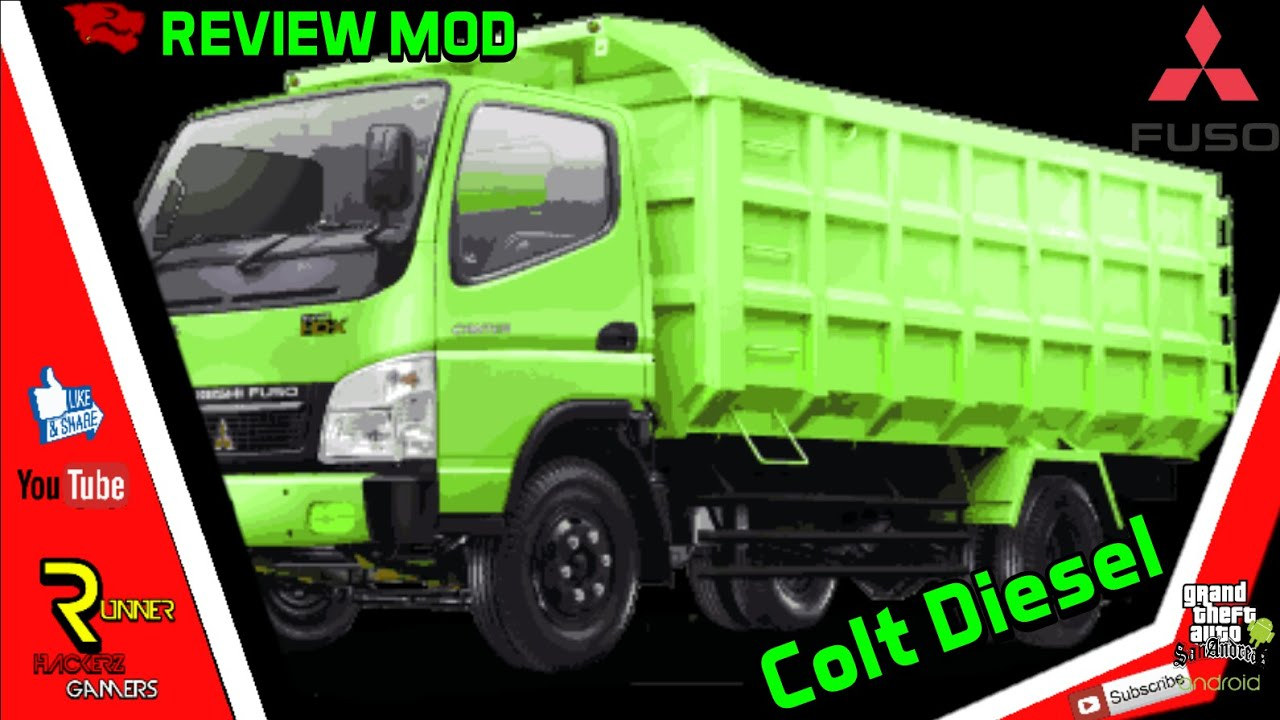 Review Mod || Mobil Colt Diesel Fuso || Dff Only || Gta Sa Mod Android ~  Review Mod #6 ~
