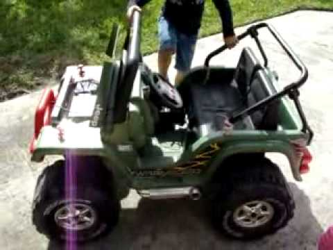 How to convert 12v to 36v Power Wheels Jeep YouTube